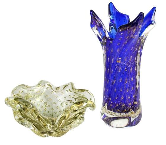 Mode 60er Jahre Vasen venezianischen Murano Glas Omg Original