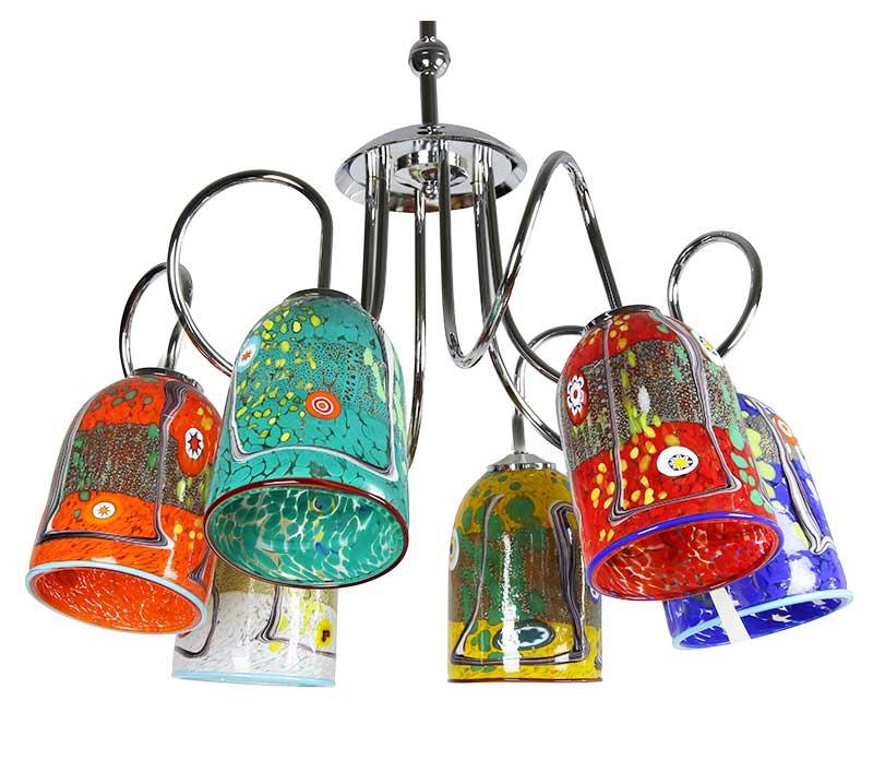 lampe suspendue lustre éclairage verre vénitien verre de murano omg
