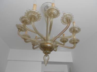 lampadario in vetro soffiato murano