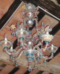 lampadario vetro