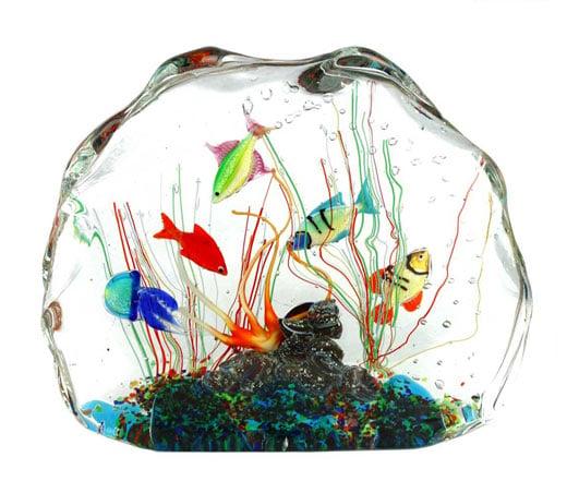 aquarium en verre de Murano