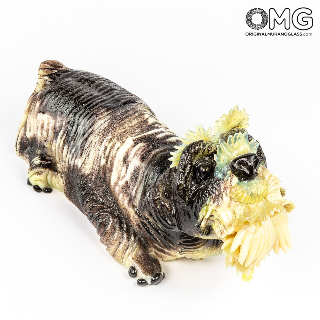 Dog - Murano Glass Sculpture - Pino Signoretto