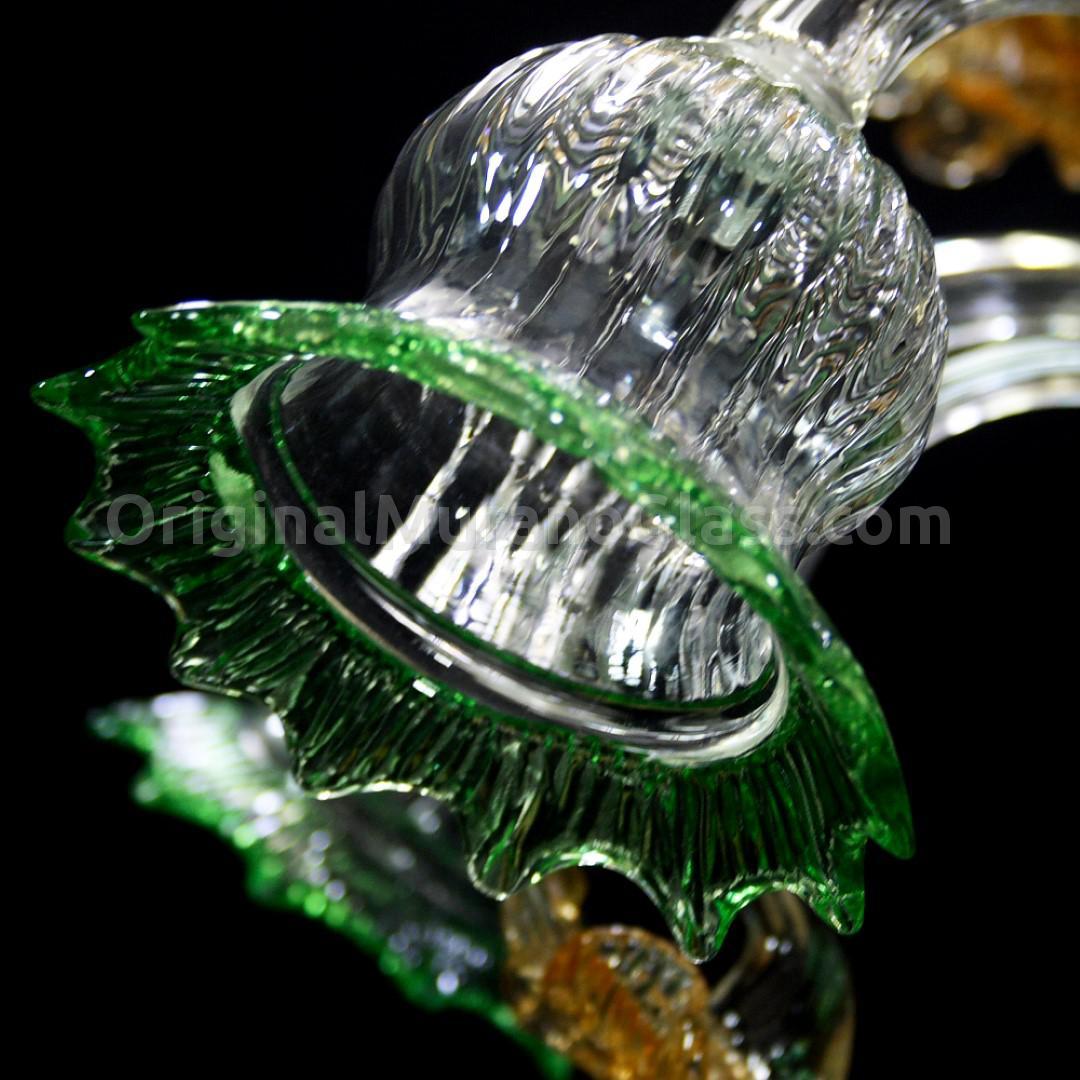Люстра Орхидея - Флорал - муранское стекло OMG