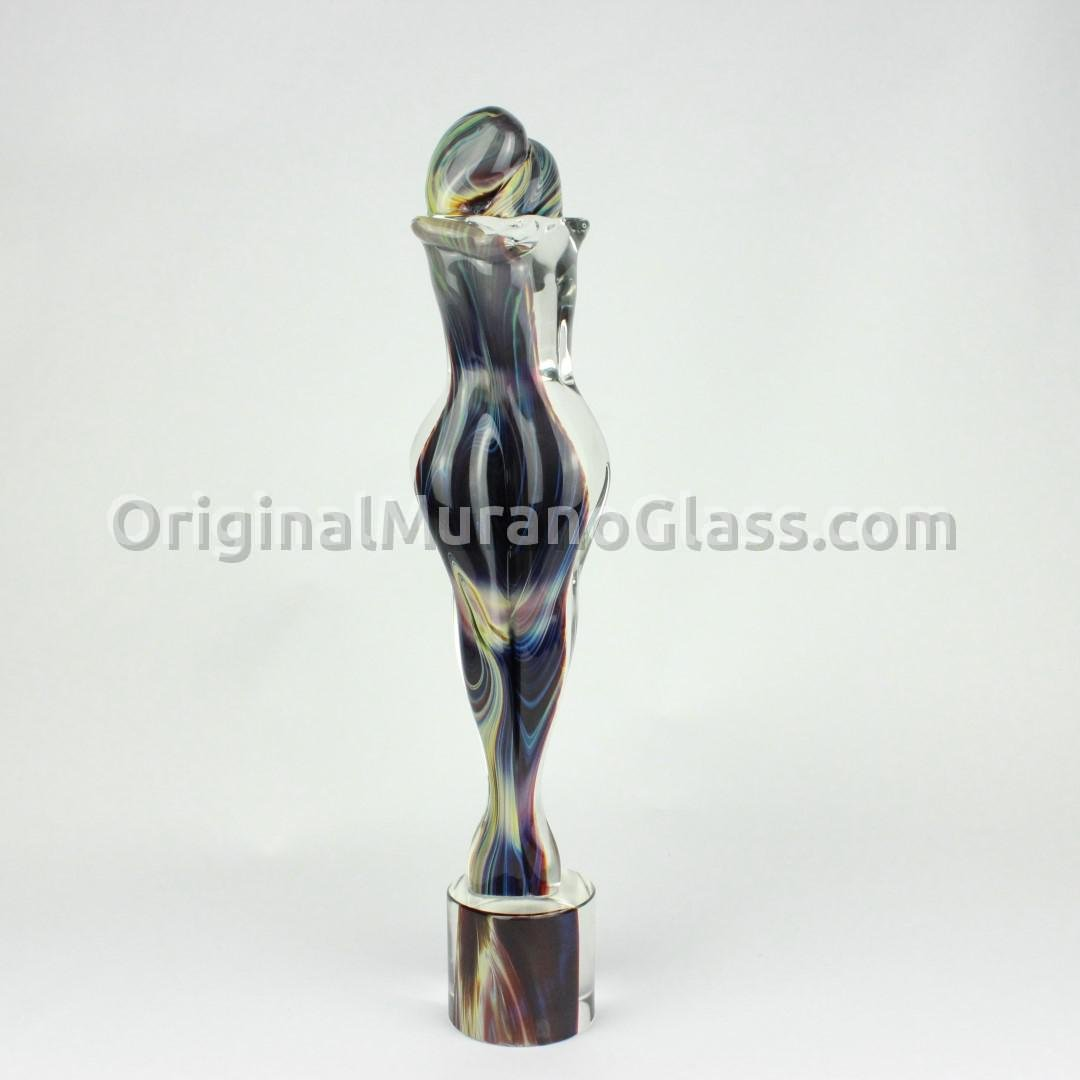 Lovers Sculpture - chalcedony glass - Original Murano Glass OMG