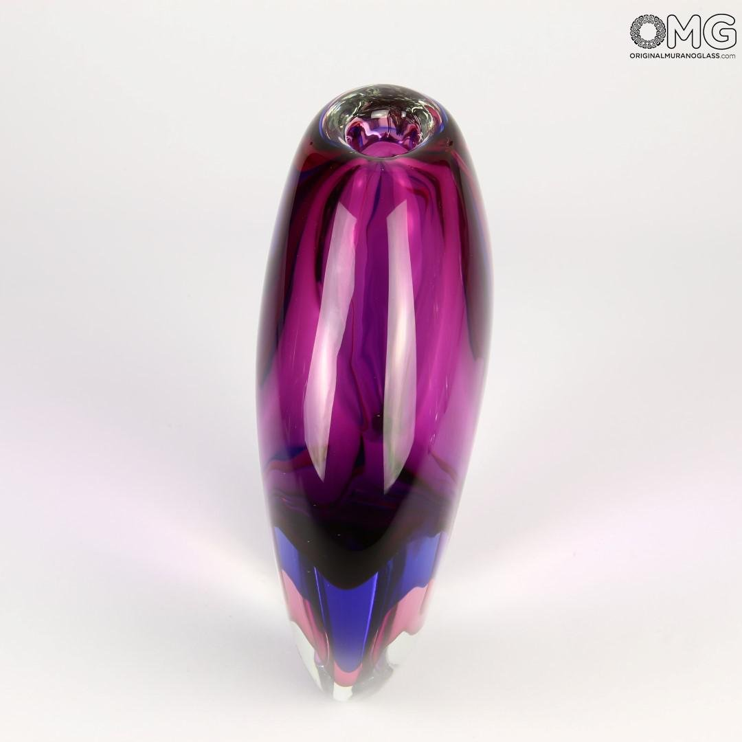 Vase Drop Purple Sommerso - Murano Glass