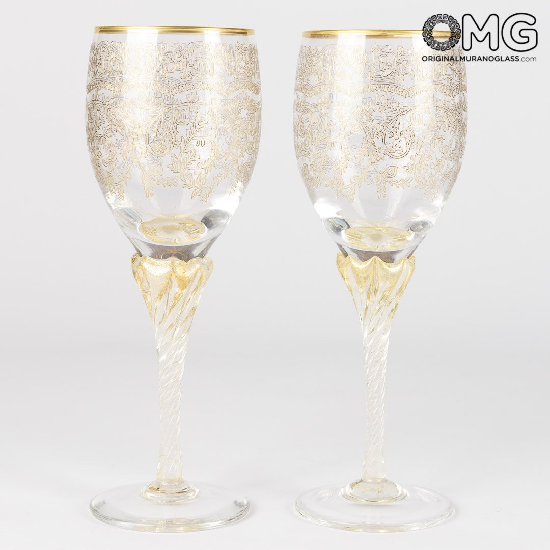 Drinking Glass Wine - 6 Pieces Set Barocco