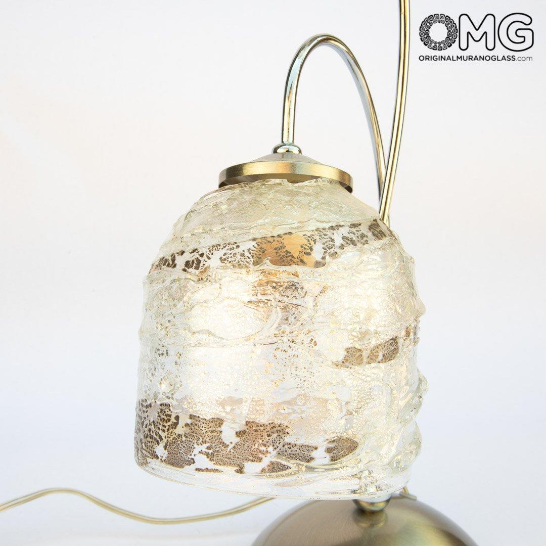 Настольная лампа Комета - мураснкое стекло OMG