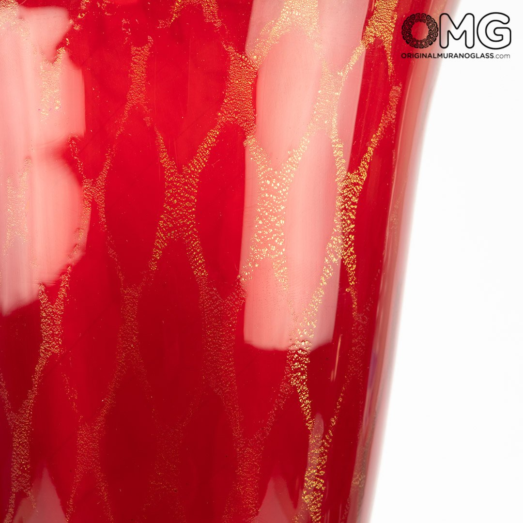 Regal Giglio Cup - Red - Original Murano Glass OMG