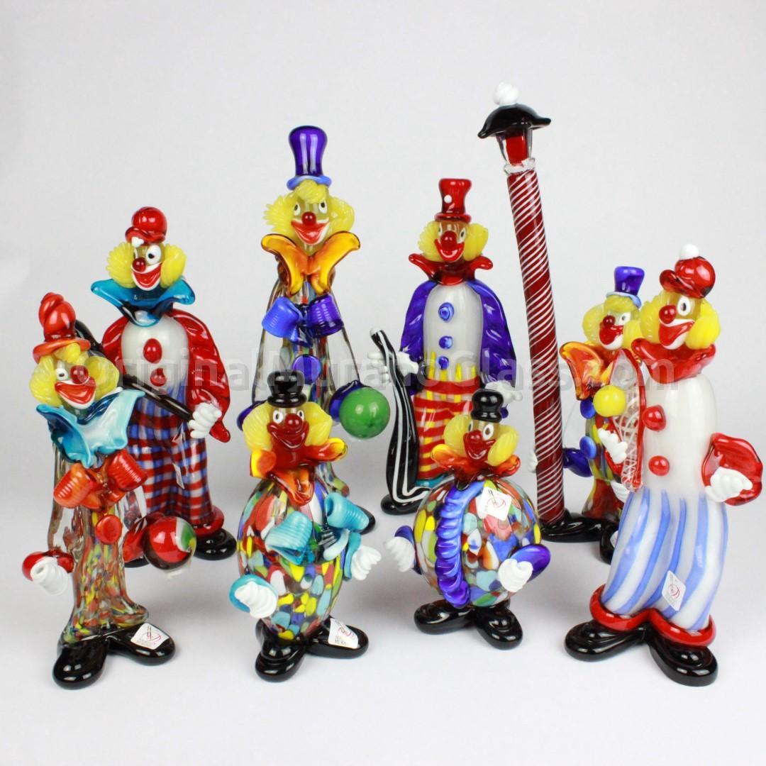 Статуэтка Клоун из разноцветного дутого муранского стекла OMG