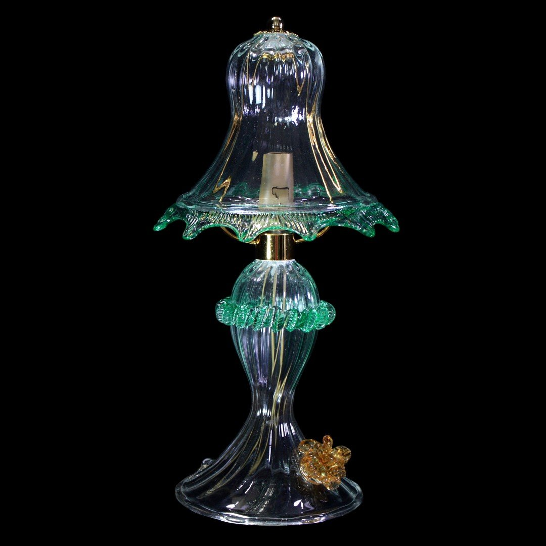 Table Lamp Orchidea - Floral - Murano Glass - 1 light