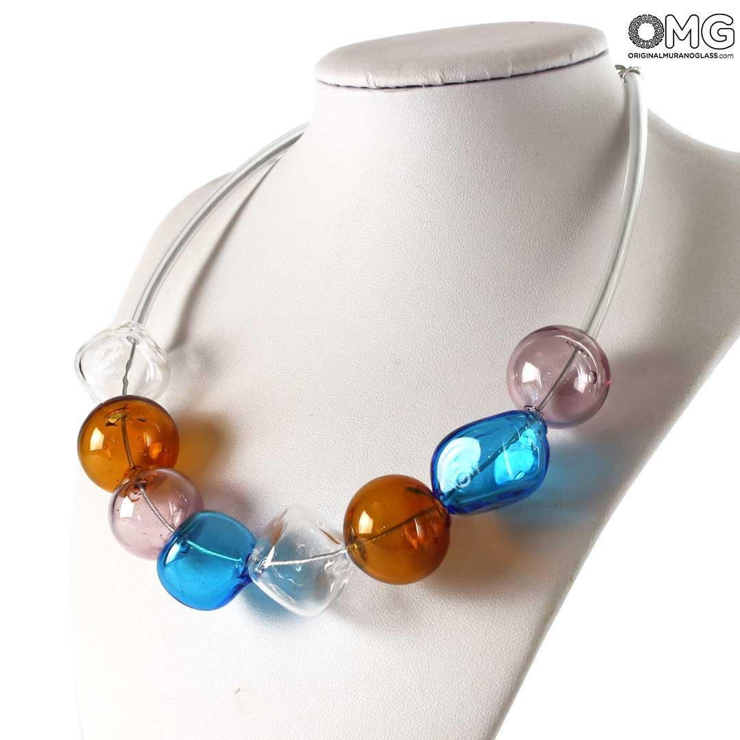 Giunone - Necklace Venetian Beads - Original Murano Glass OMG