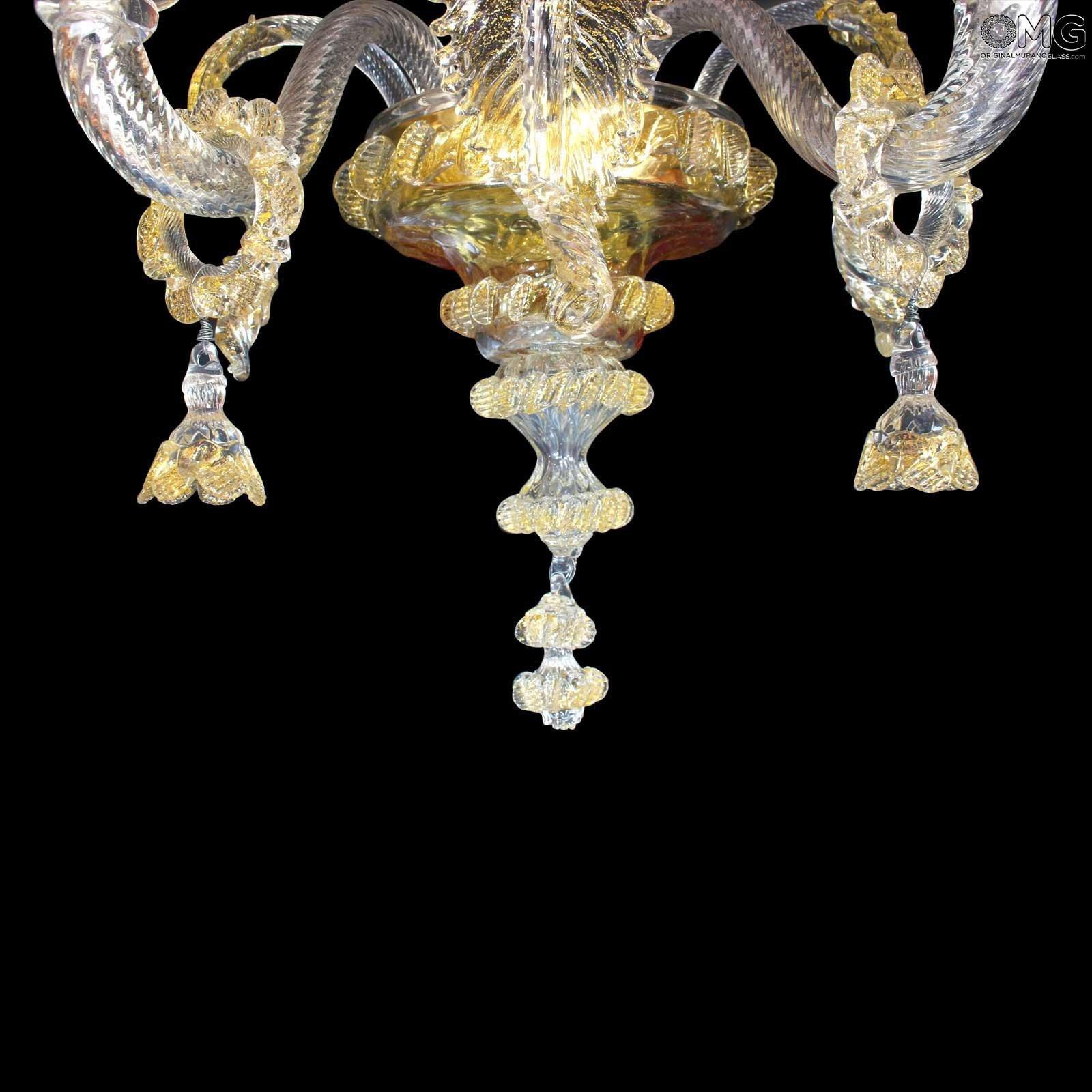 Wall lamp Regina - Gold - Murano Glass