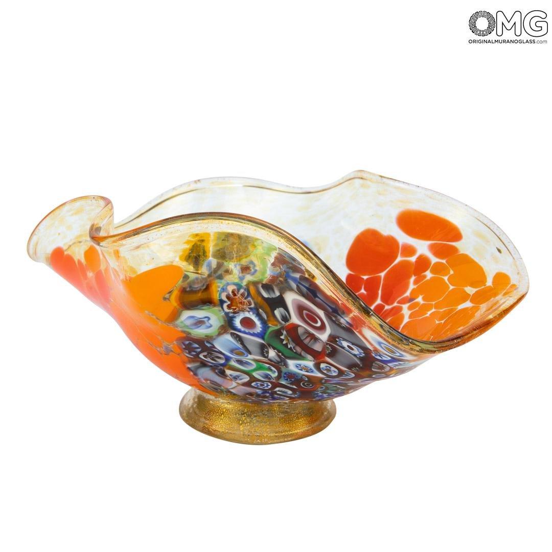 Вазочка Оранжевый колокольчик - муранское стекло OMG