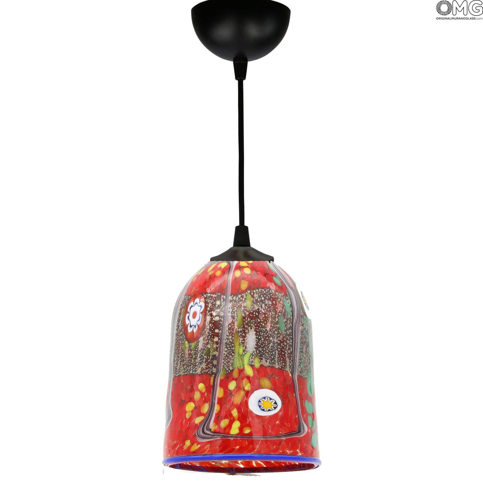 Spicy - Lampada a sospenione in vetro di Murano - diversi colori disponibili