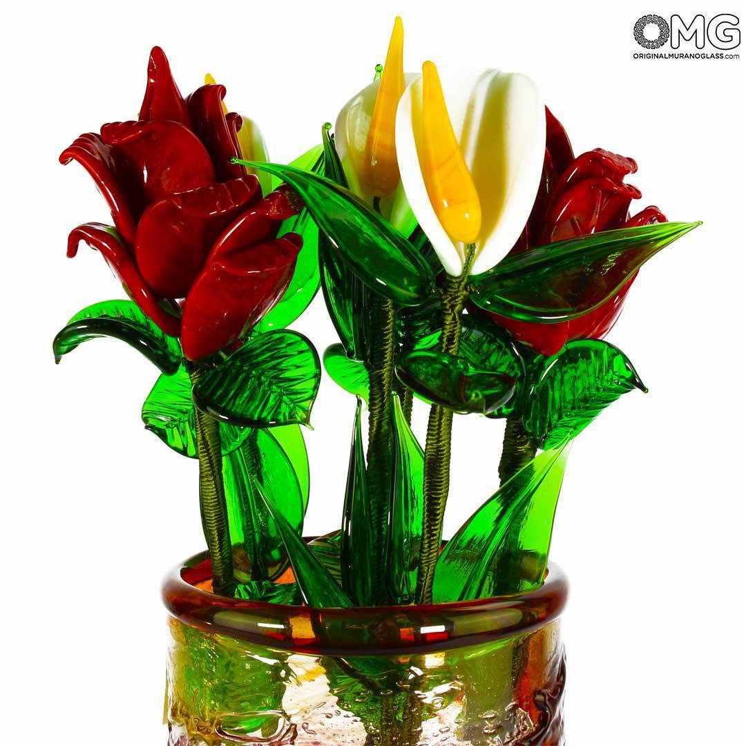 Big Calla Flower - Original Murano Glass OMG