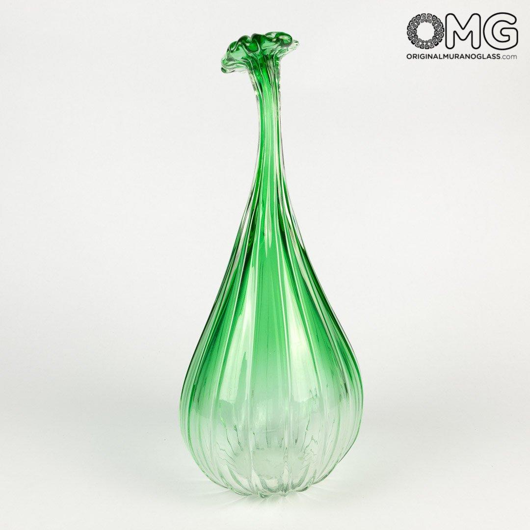 Blown Bud Vase - Green - Original Murano Glass OMG
