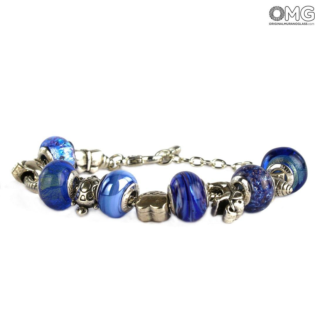 Pandoralike - Blue Bracelet One Colour - Murano glass