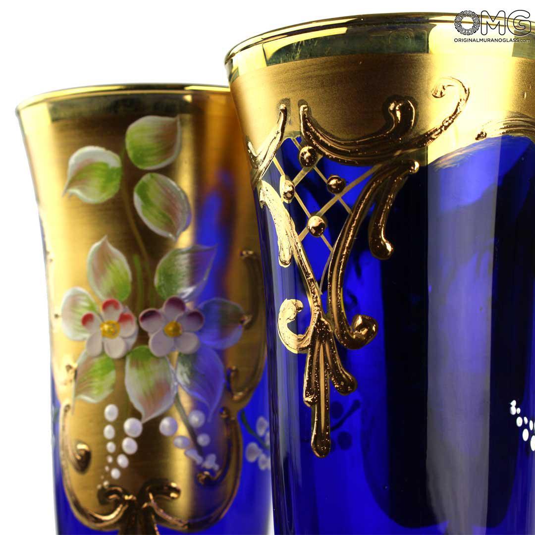 Набор из 2 бокалов-флюте синего цвета- я&ты- trefuochi