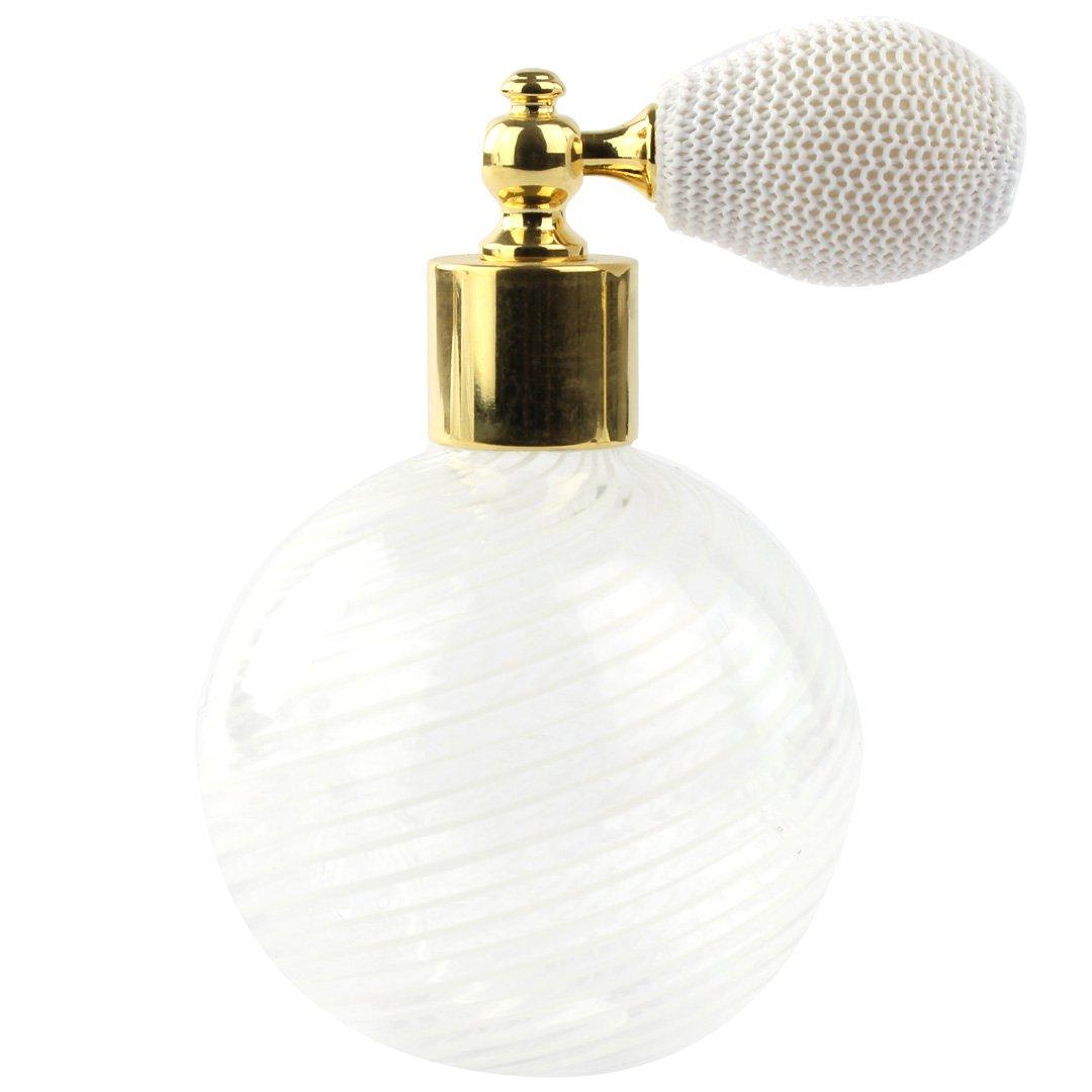 Bottle Perfume Atomizer - White Filigree - Original Murano Glass OMG