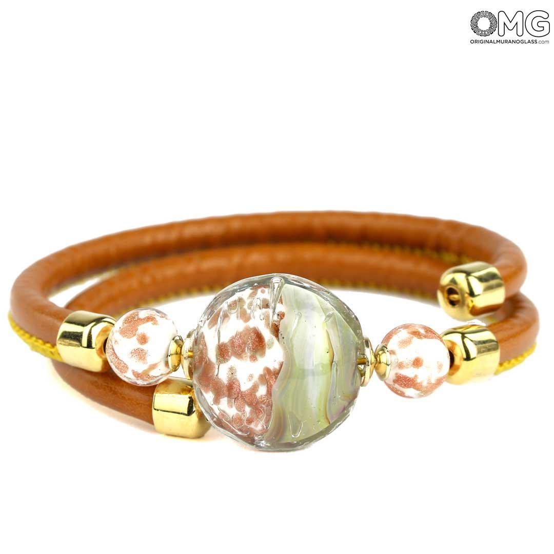Bracelet Firenze - Chalcedony Glass - Original Murano Glass OMG