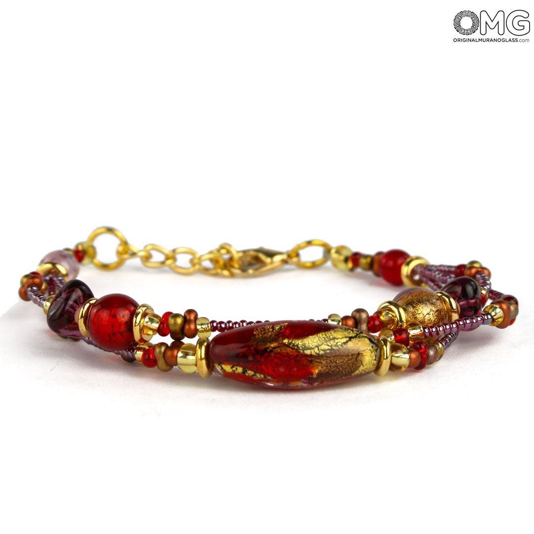 Bracelet Ama - with Gold - Original Murano Glass