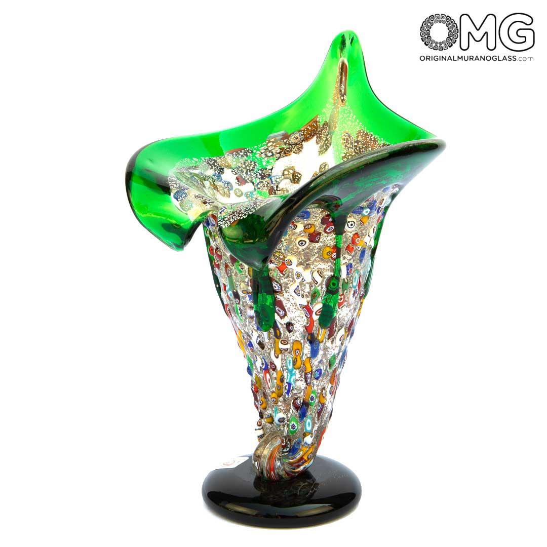 Calla - Vase -  Murano glass Millefiori