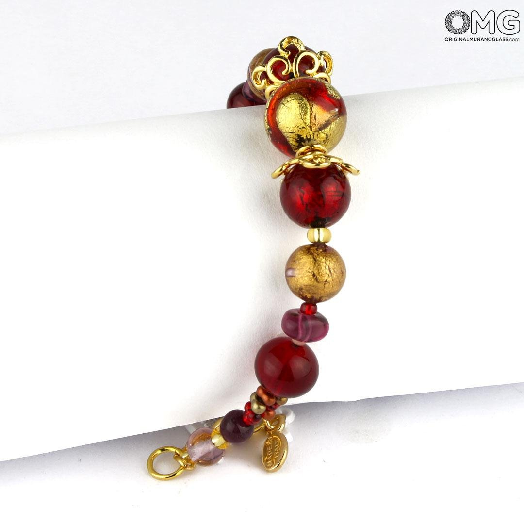 Bracelet Cecilia - with Gold - Original Murano Glass