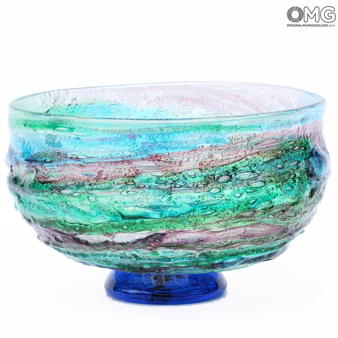 Ocean Sbruffi Centerpiece Bowl - Murano glass