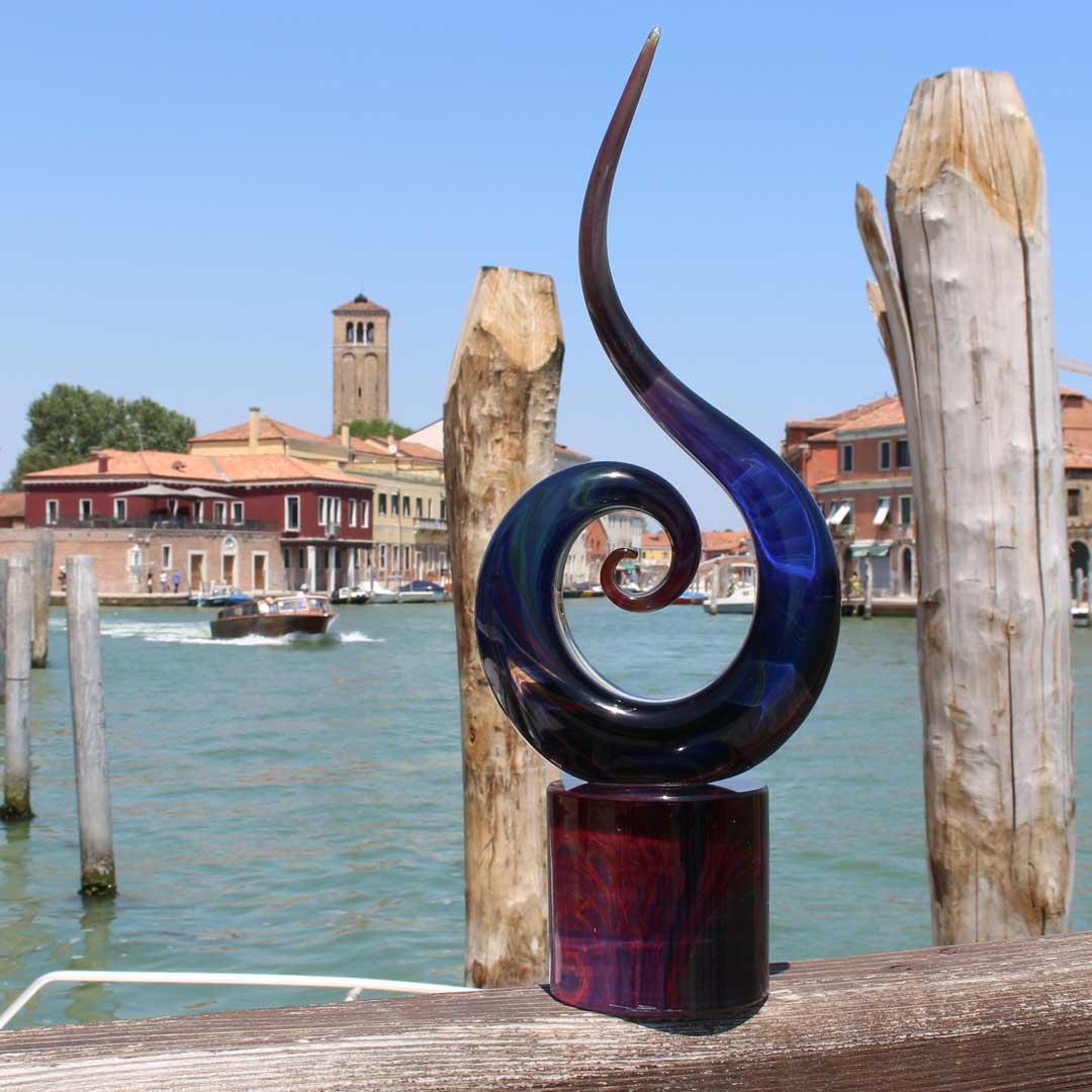 Скульптура  Волна - автор Andrea Tagliapietra - муранское стекло OMG