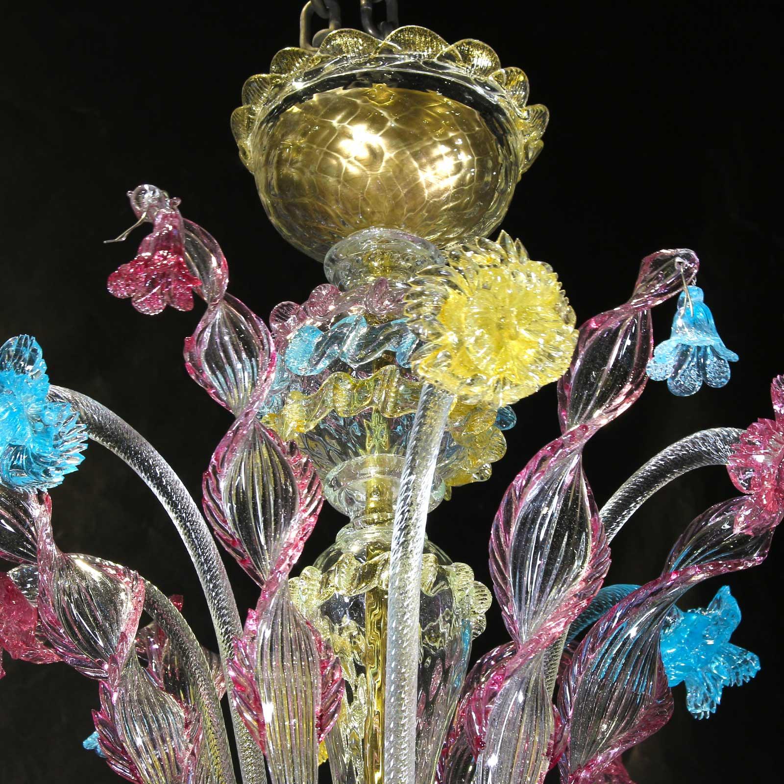 Venetian Chandelier - Classic Rezzonico Style - Original Murano Glass