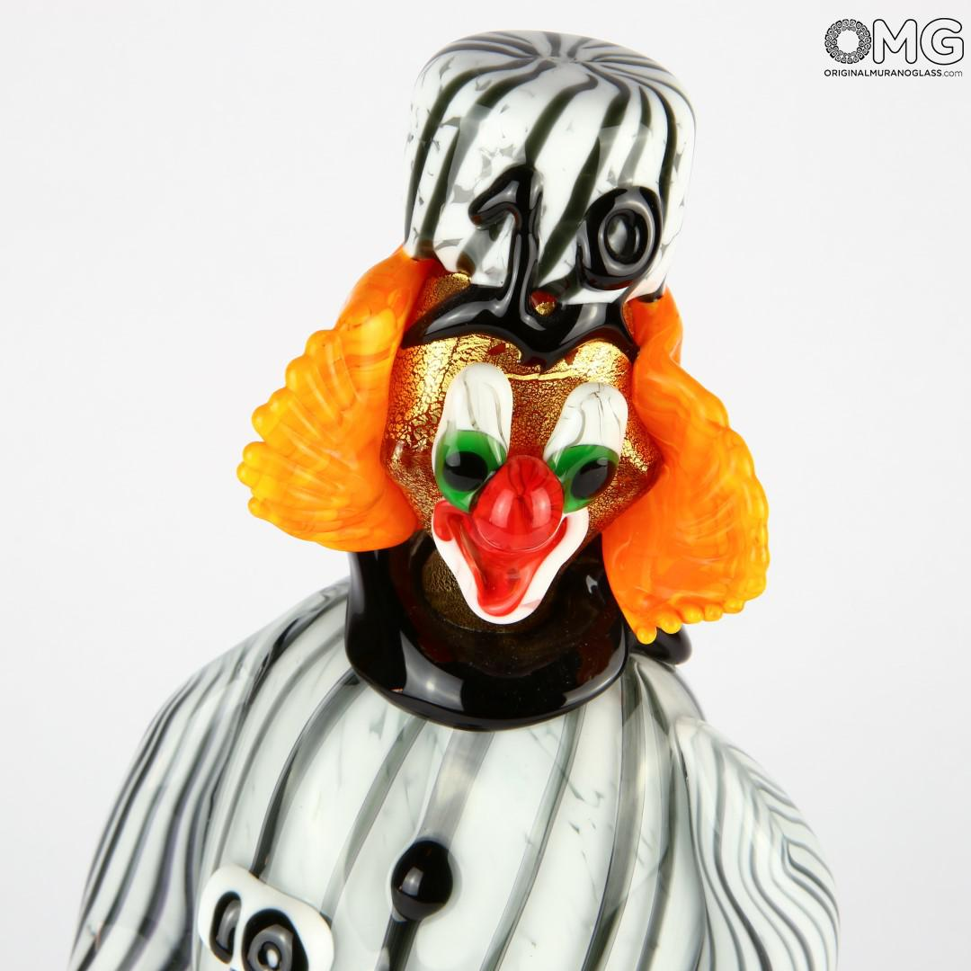 Clown figurine jailbird prisoner Original Murano Glass OMG