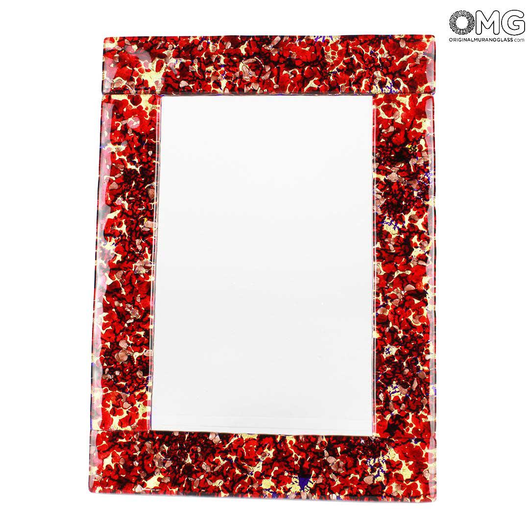 Фоторамка Красно-Золотая Фантазия -  муранское стекло