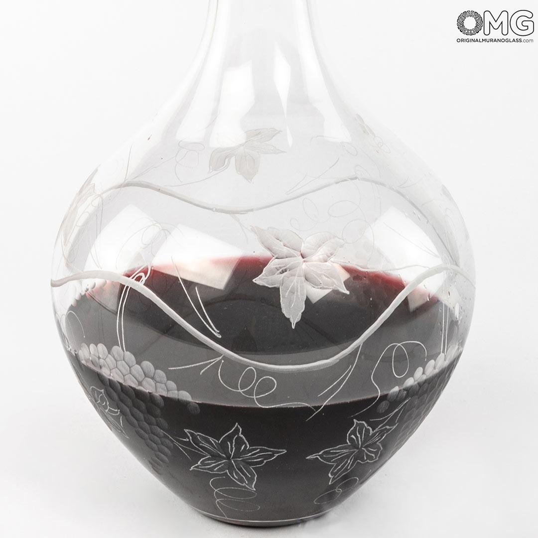 Decanter Amarone - Blown Glass - with elegant engraving