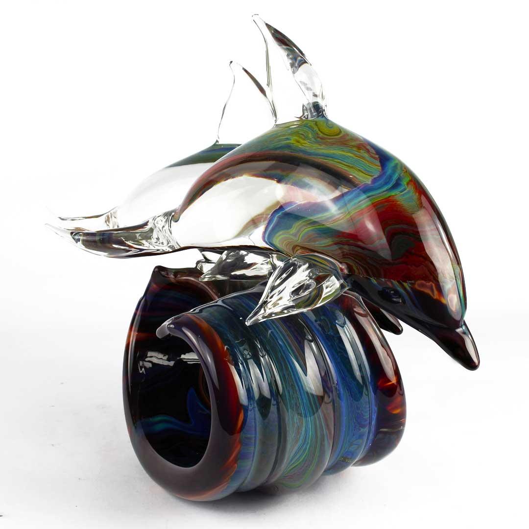 Скульптура Два Дельфина  - автор Andrea Tagliapietra - муранское стекло