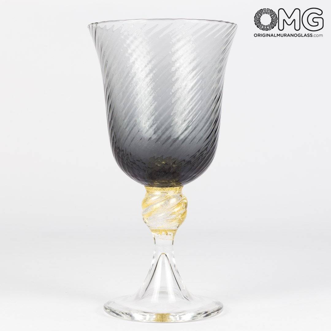 Набор из разноцветных бокалов-флюте для вина - Original Murano Glass OMG
