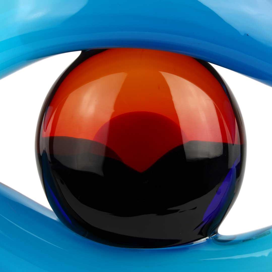 Third Eye - The Sight - Murano Glass Sculpture