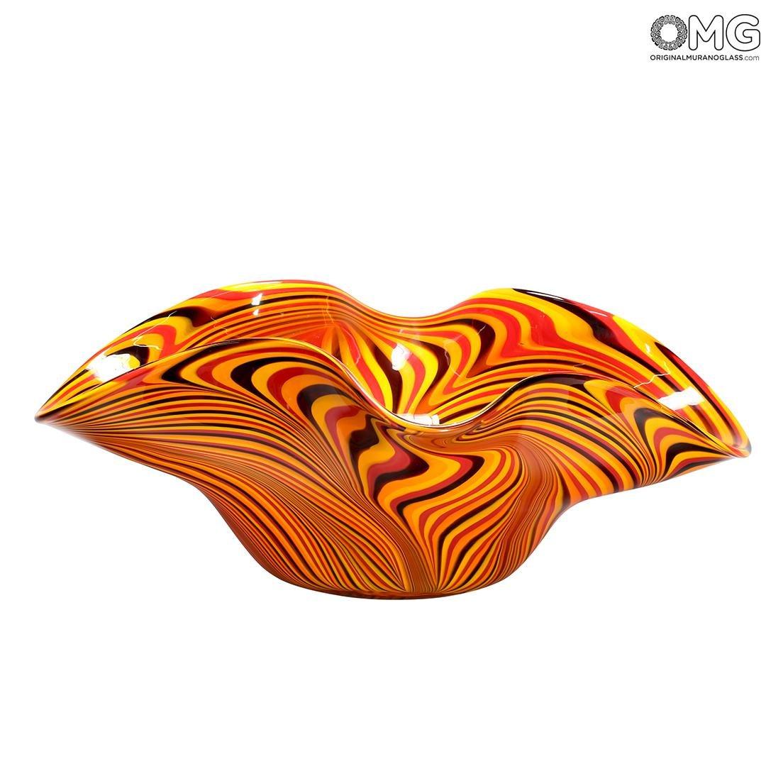 Tigre Sombrero - Blown Centerpiece - Original Murano Glass