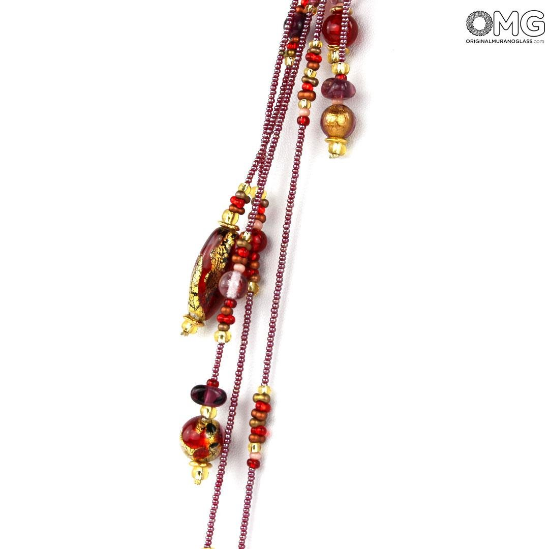 Necklace Deborah - with gold - Original Murano Glass OMG