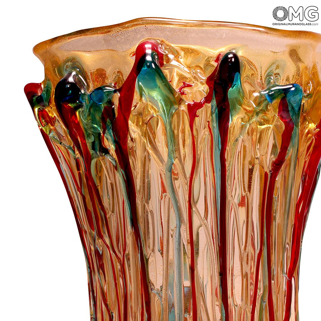 Fantasy Lava - Napkins Vase - Original Murano Glass