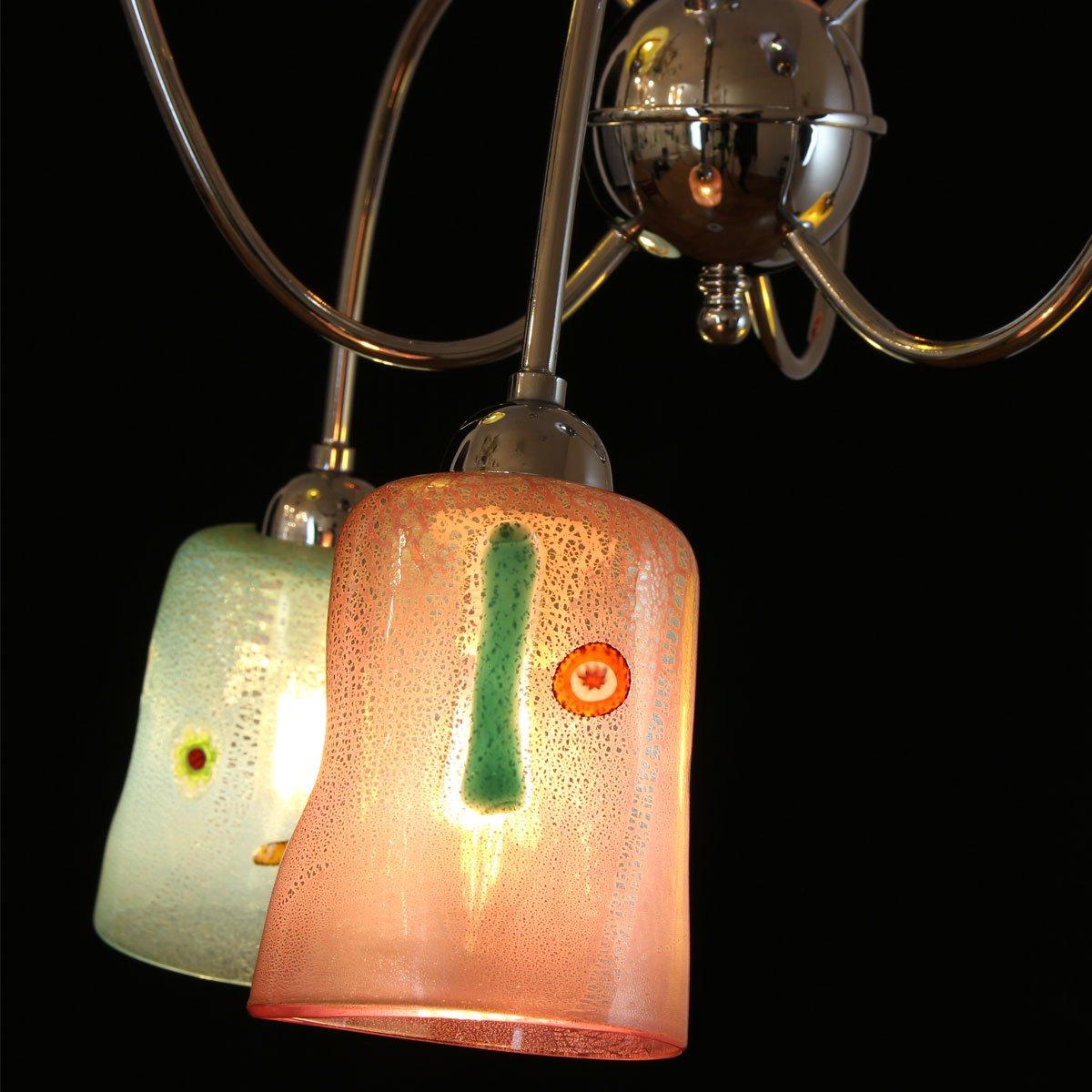 Italy iTaly - Lampadario in vetro di Murano 6 luci - diversi colori disponibili