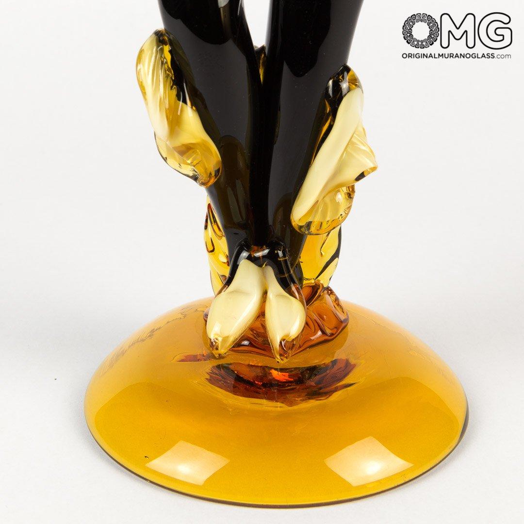 Статуэтка Янтарные танцоры фламенко - Original Murano Glass OMG