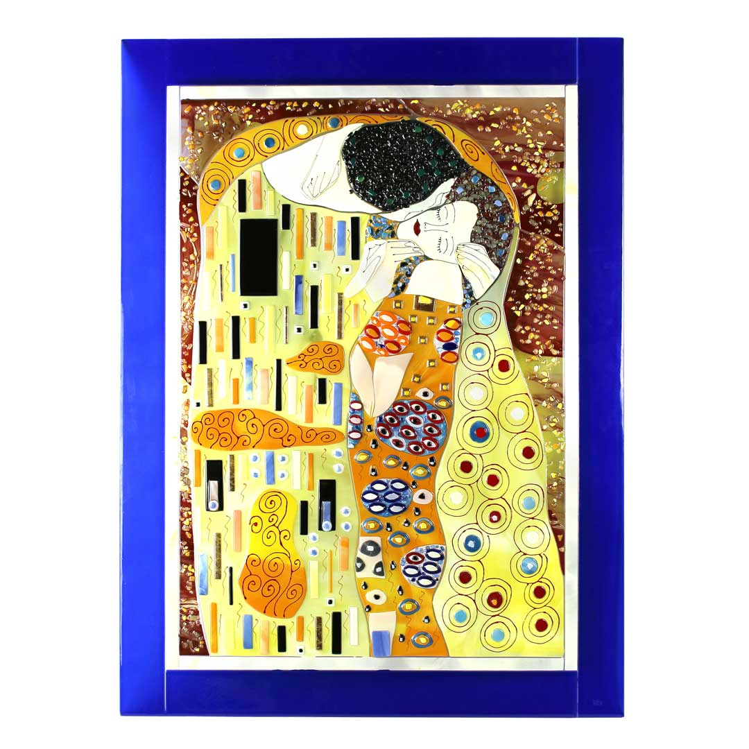 The Kiss - klimt canvas tribute - Glass Paint