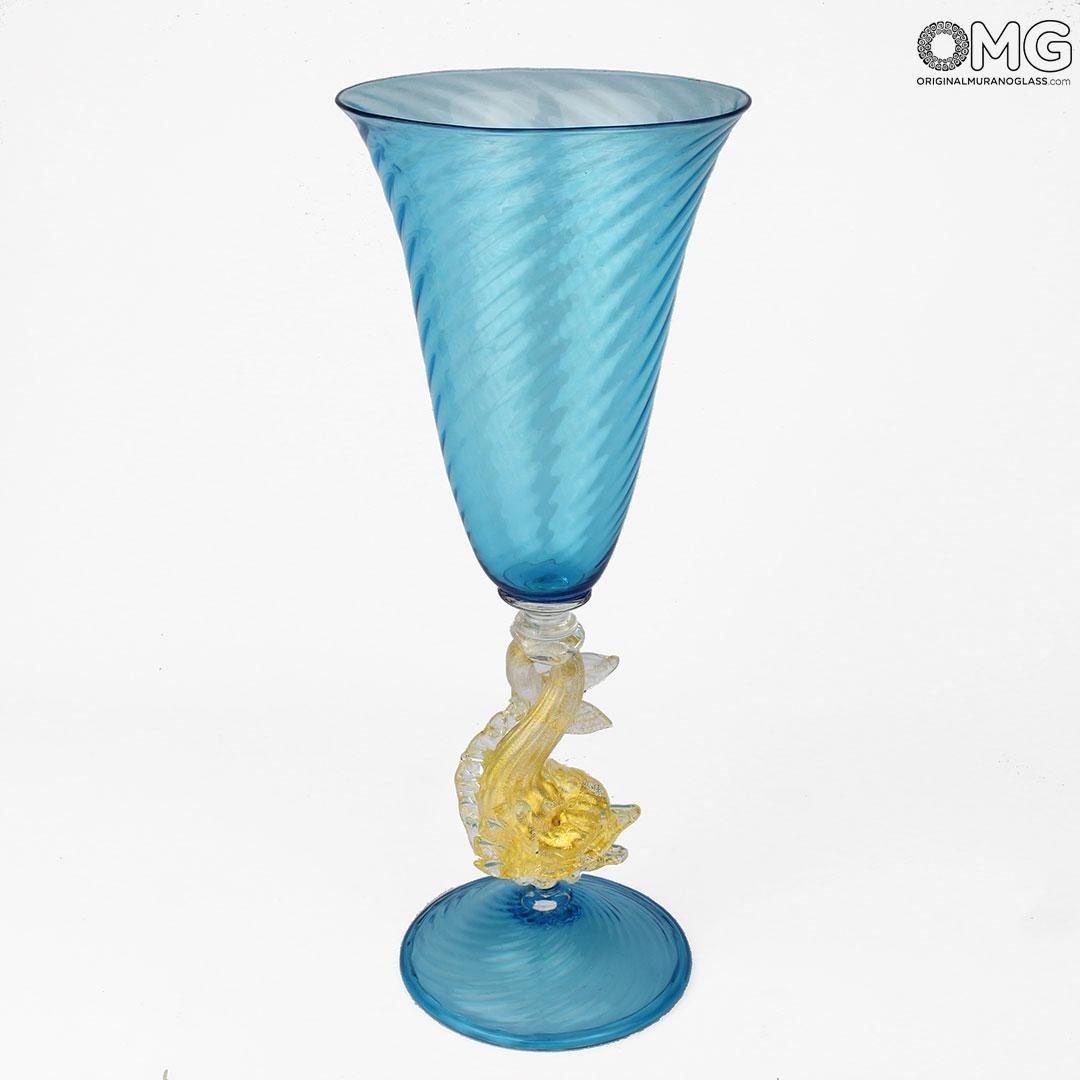 Venetian Goblet Aqua - Murano Glass