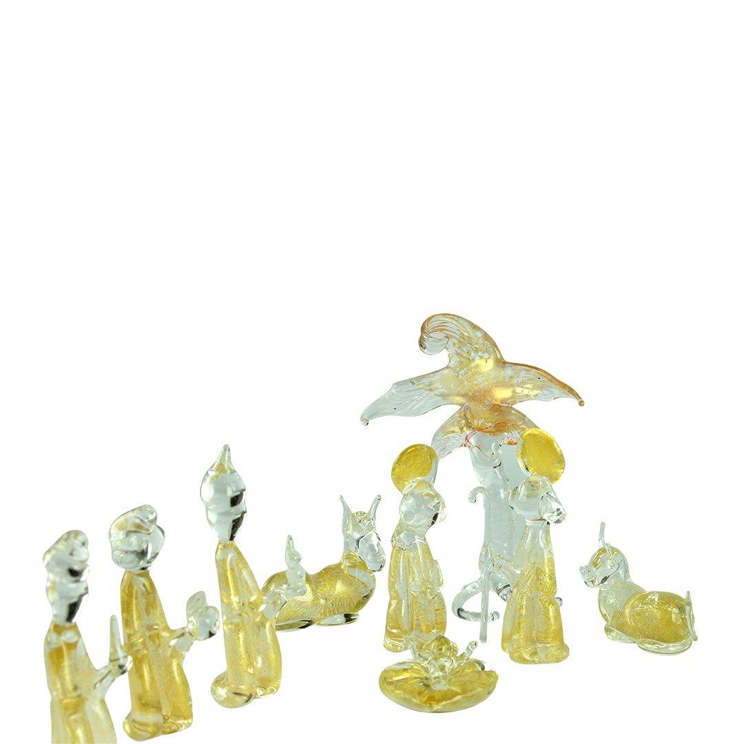 Presepe - Con foglia Oro - Vetro di Murano Originale OMG