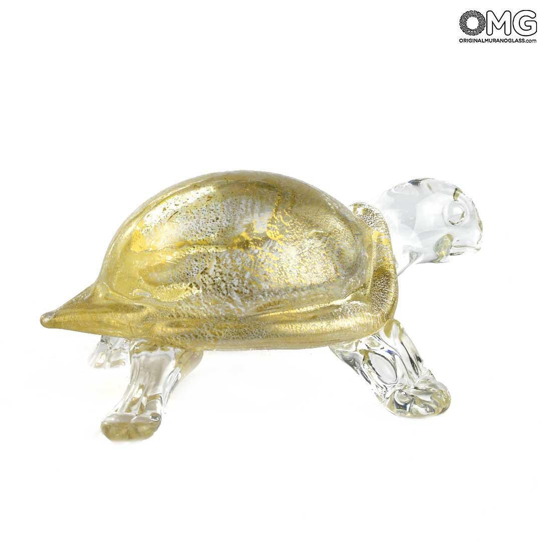Turtle - With real Gold - Original Murano Glass OMG