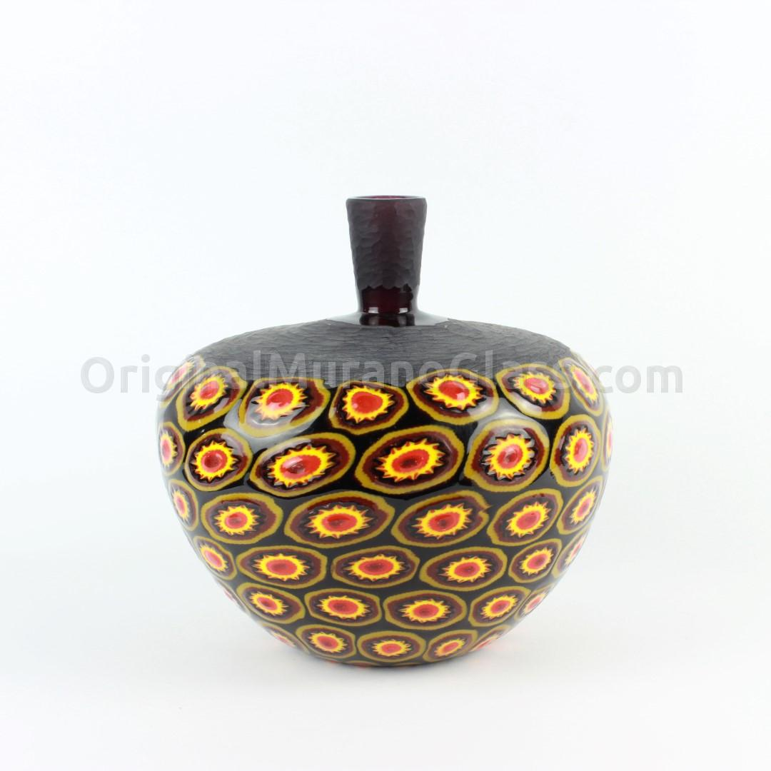 Blown Vase - With Millefiori - Original Murano Glass OMG