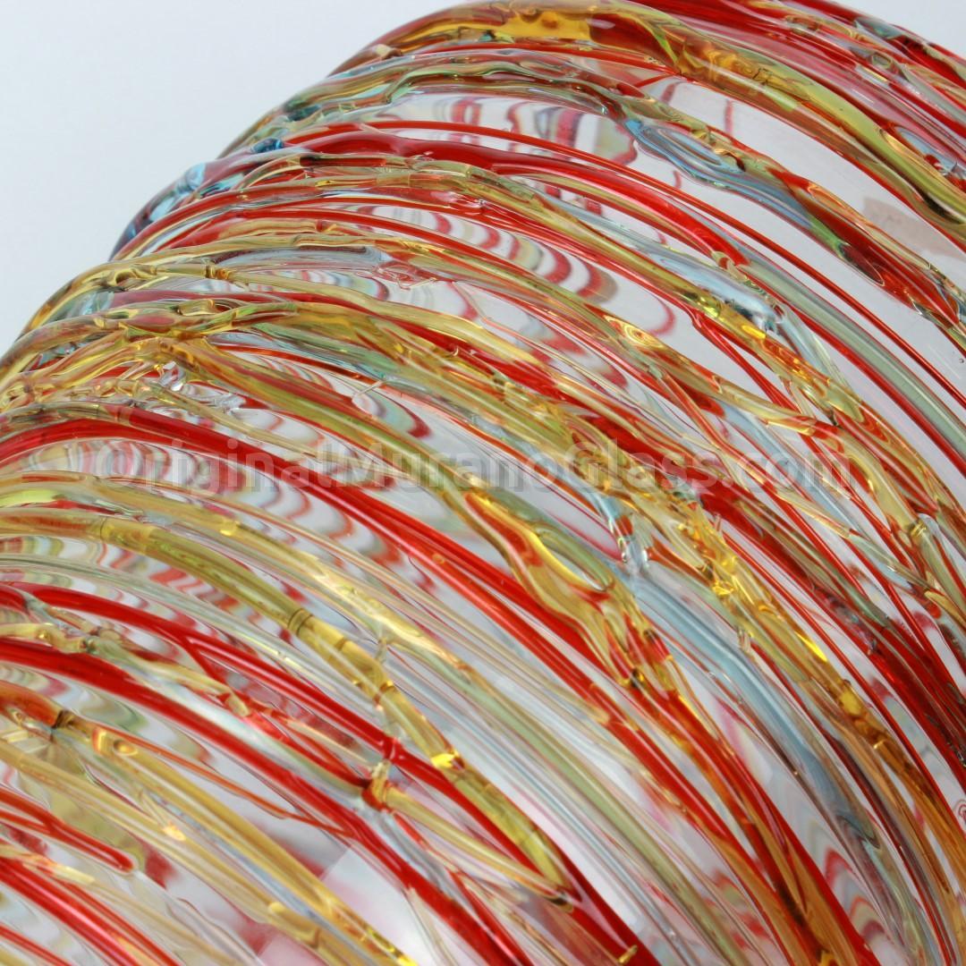 Bacchus Cylinder Vase - Murano Glass Artist