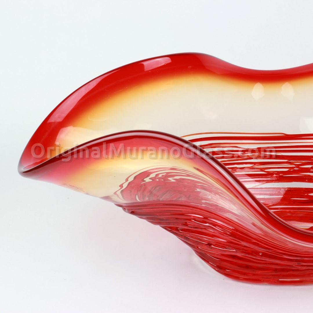 Декоративная чаша Сомбреро из муранского стекла красная - муранское стекло OMG