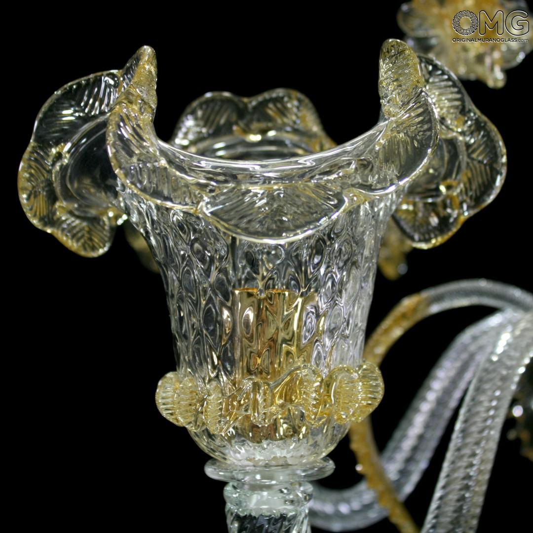 Chandelier Elegante - Double Amber - Murano Glass