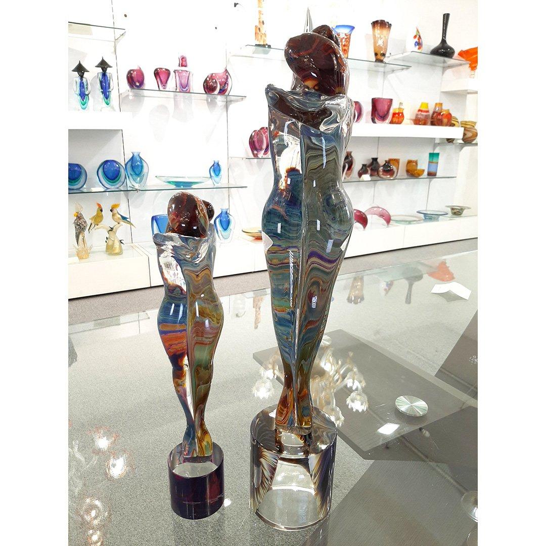 Lovers Sculpture - chalcedony glass - Original Murano Glass OMG